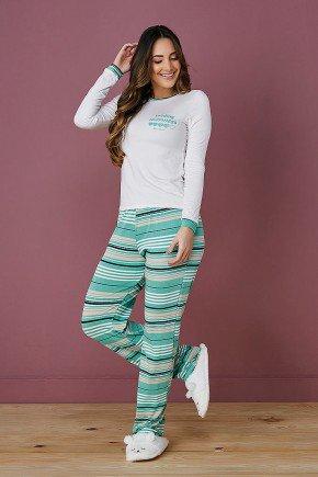 pijama de frio listrado tata martello rosana frente verde