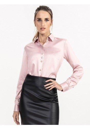 camisa cetim rose principessa ligia look