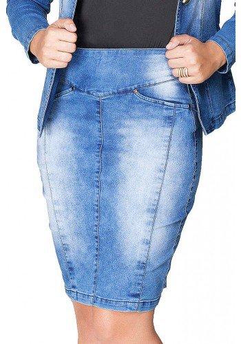 saia jeans classica com recortes atras dyork frente baixo