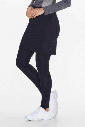 saia calca fitness elastico cintura preta uv50 epulari ep064 frente baixo