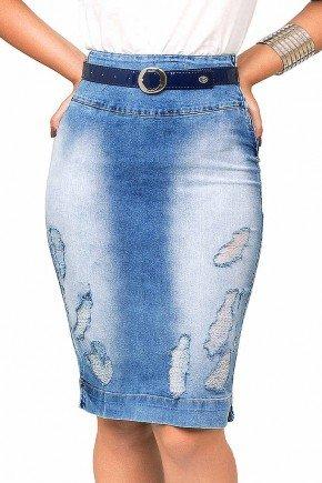 saia jeans midi destroyed azul jeans dyork frente baixo