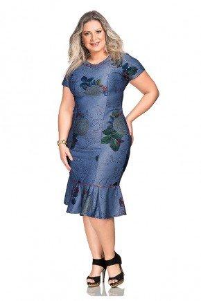 vestido casual estampa floral sino dyork frente