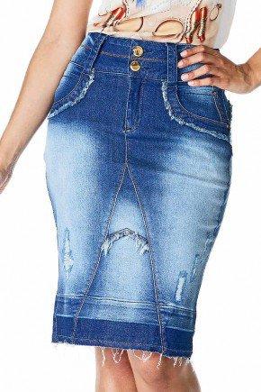 saia jeans destroyed barra desfeita dyork frente baixo