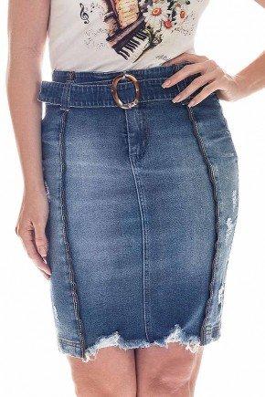 saia jeans barra destroyed nitido frente baixo
