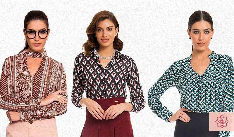 camisas feminina social retro estampadas1