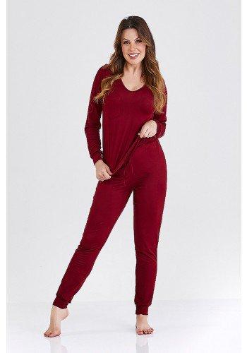 pijama longo vinho sienna cloa frente