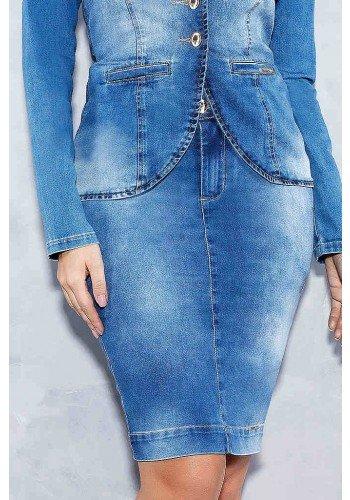saia botoes duplos transpassados no cos titanium jeans freente