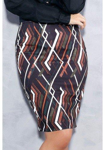 saia lapis preta estampas geometricas titanium jeans frente baixo