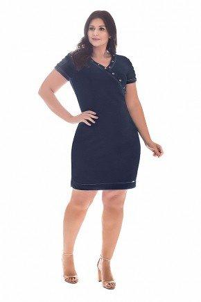 vestido tubinho plus size detalhe ilhos nitido frente