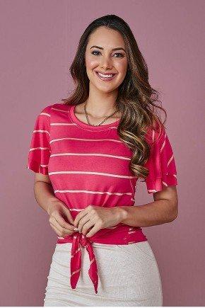blusa pink com babados e amarracao tata martello
