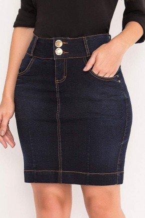 saia tradicional jeans azul marinho laura rosa frente baixo