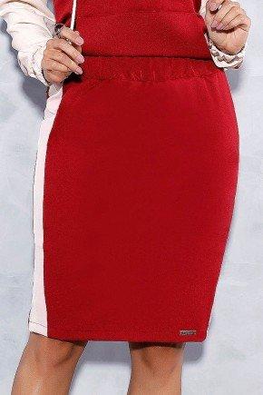 saia lapis marsala detalhe lateral titanium jeans frente baixo