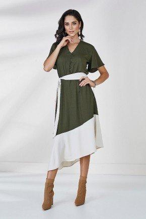 vestido pinho assimetrico felipa cloa frente