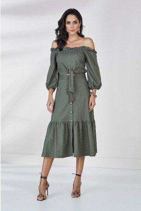 vestido pinho ciganinha elisie cloa frente