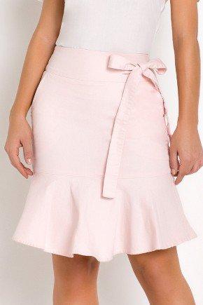 saia sino rosa claro detalhe de amarracao laura rosa frente baixo