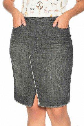 saia black fenda frontal nitido jeans frente baixo