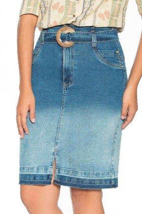 saia jeans efeito degrade com barra desfeita nitido