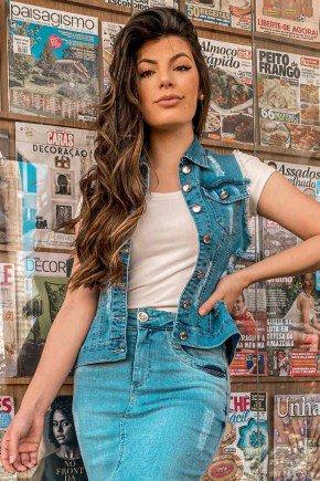 colete jeans feminino destroyed pele mania pm2088 cima