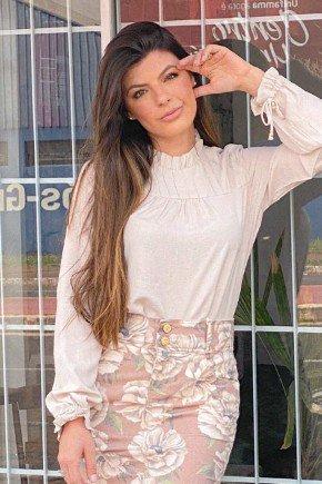 blusa marfim gola alta com babadinhos laura rosa lr89352 cima