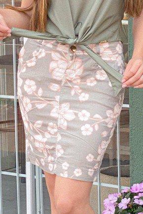 saia reta estampa floral laura rosa lr89303