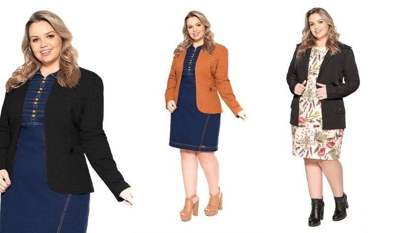 post no blog como usar blazer pluss size