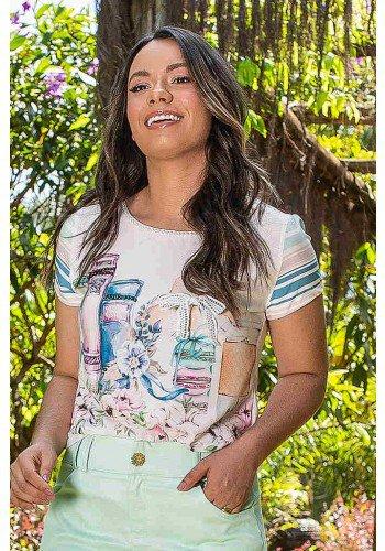 t shirt estampa exclusiva com bordados jany pim cima
