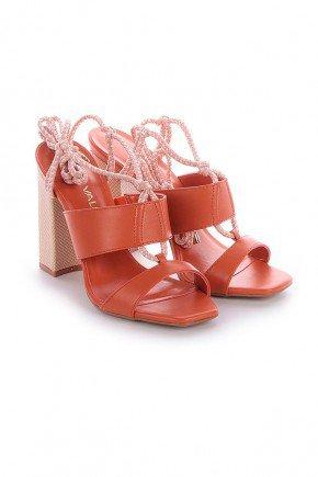 sandalia amarracao laranja di valentini