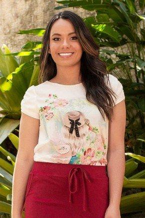 t shirt estampa exclusiva com bordados jany pim frente cima