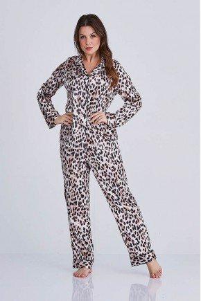 pijama feminino animal print nicole cloa frente
