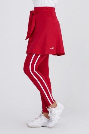 saia calca comprida vermelha alta compressao protecao uv50 epulari ep053vm frente baixo