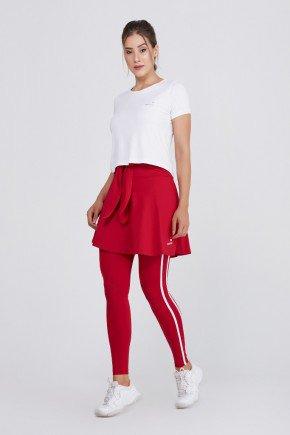 saia calca comprida vermelha alta compressao protecao uv50 epulari ep053vm frente