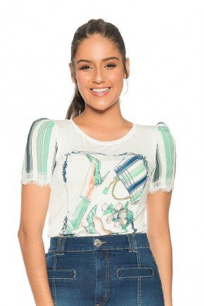t shirt manga bufante estampa exclusiva nitido frente cima