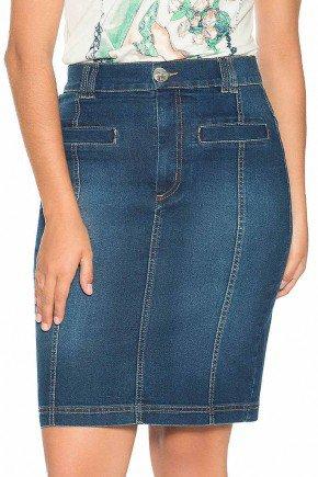 saia jeans cos fino bolsos embutidos nitido jeans