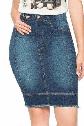 saia jeans com barra desfiada nitido frente baixo