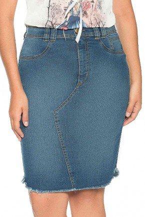 saia jeans recorte assimetrico barra desfiada nitido frente baixo