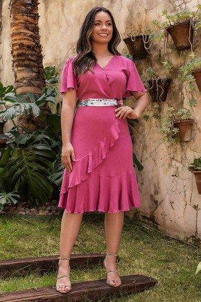 vestido luiza uva com babados jany pim frente
