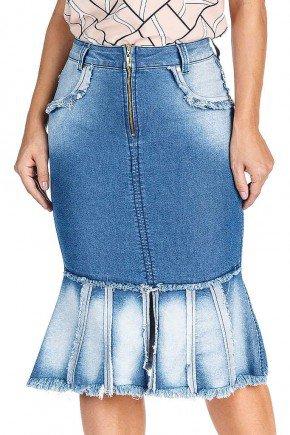 saia sino com recortes e desfiadas dyork jeans frente baixo