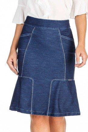 saia jeans escuro recortes assimetricos dyork jeans frente baixo