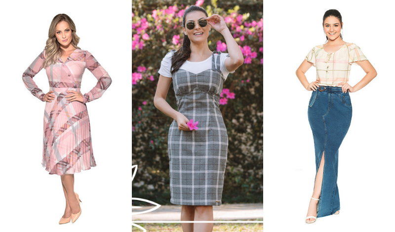 post no blog vestido xadrez