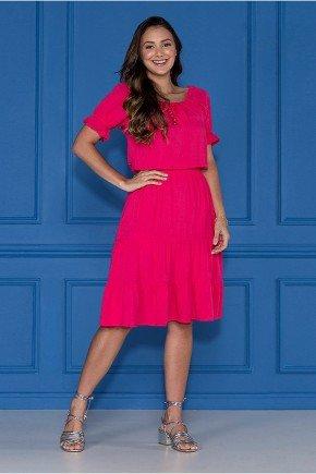 vestido pink pipoquinha tres marias jany pim