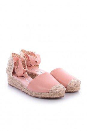 sandalia espadrille rosa com amarracao talila dv4138 6