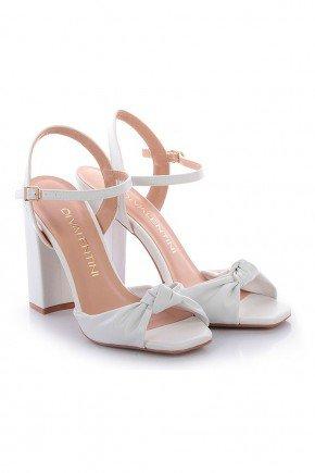 sandalia branca salto grosso solange di valentini dv4175br 6
