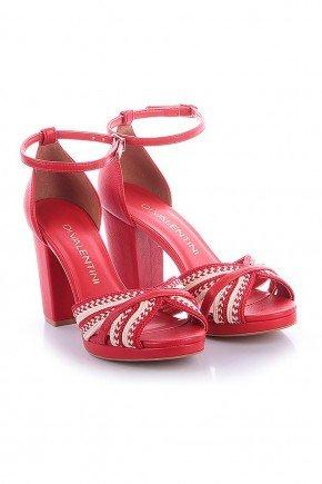 sandalia vermelha salto grosso alicia di valentini dv4118vr 3