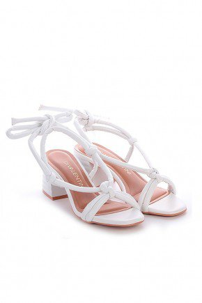sandalia branca com tiras acolchoadas ohana di valentini dv4252br 4