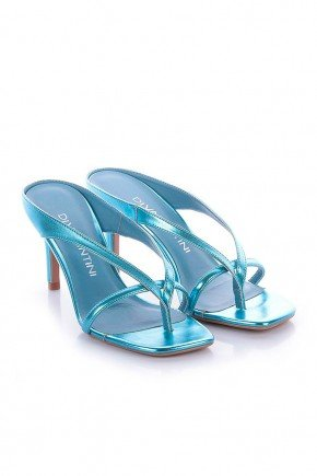 tamanco metalizado azul salto fino ariana di valentini dv4203az 5