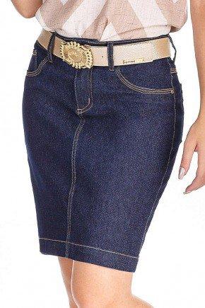 saia jeans azul marinho dyork jeans baixo