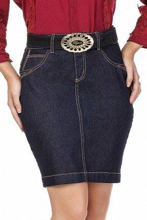 saia jeans curta marinho dyork jeans baixo