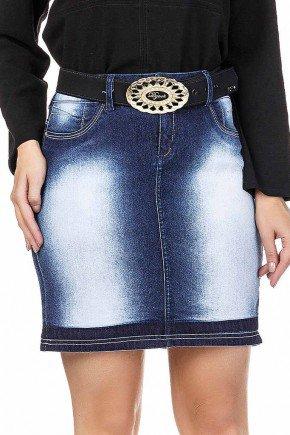 saia jeans com marcacao escura na barra dyork jeans baixo