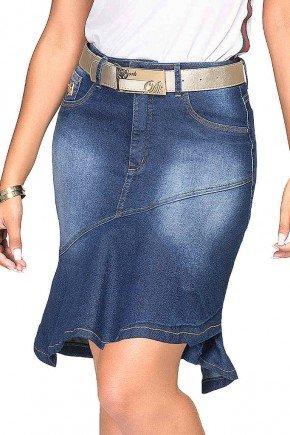 saia sino mullet azul com recortes dyork jeans baixo