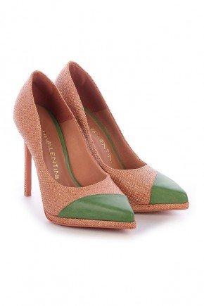 scarpin verde natural salto fino adelia di valentini dv4214vd 3